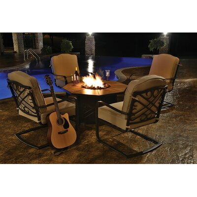 Harmony 5 Piece Bar Set with Cushions and Gas Fire Pit