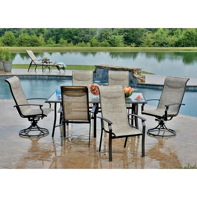 Peninsula Outdoor 7 Piece Dining Set