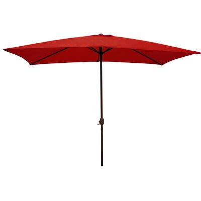 6.5 x 10 Rectangular Market Umbrella Color: Red