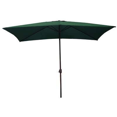 6.5 x 10 Rectangular Market Umbrella Color: Hunter Green