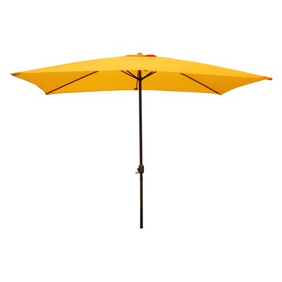 6.5 x 10 Rectangular Market Umbrella Color: Yellow