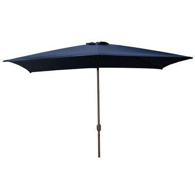 6.5 x 10 Rectangular Market Umbrella Color: Navy Blue