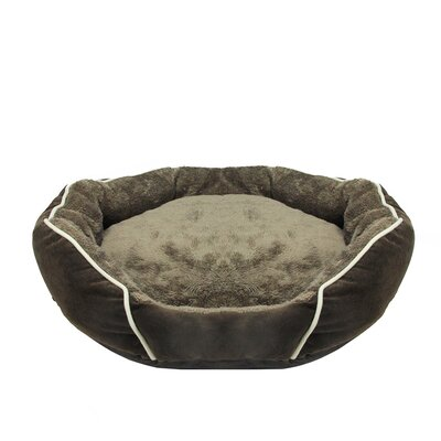 Edwards Faux Fur Self Heating Plush Sleeper Lounge Dog Bed Size: Large (27.25 L x 25 W)