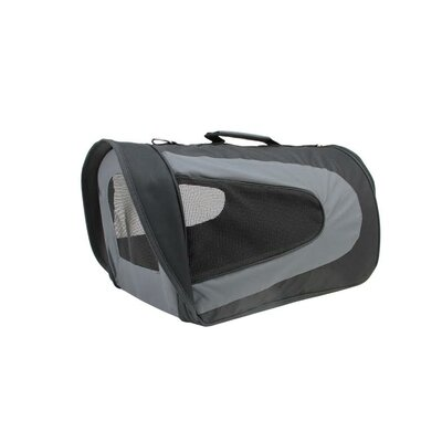 Pet Carrier Size: Large, Color: Black/Gray