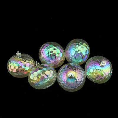 Shatterproof Hammered Disco Ball Ornament Color: Clear Iridescent 31754458