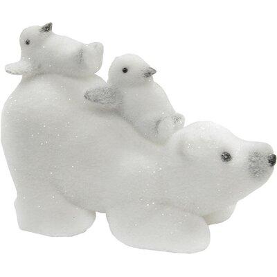 Glittered Polar Bear and Penguins Tabletop Decoration 32263139