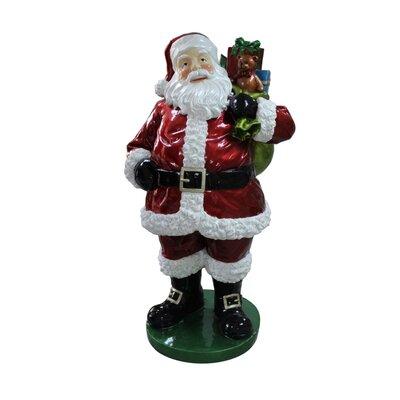 Commercial Grade Standing Santa Claus with Presents Fiberglass Christmas Decoration