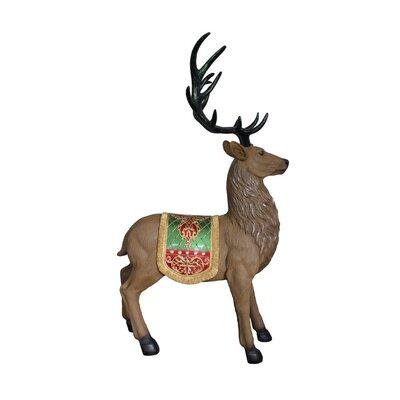 Commercial Grade Standing Reindeer Fiberglass Christmas Decoration
