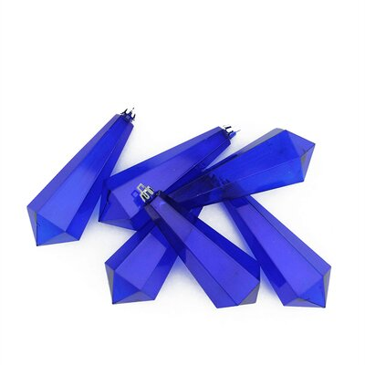 Shatterproof Diamond Shaped Icicle Christmas Ornament Color: Blue Transparent