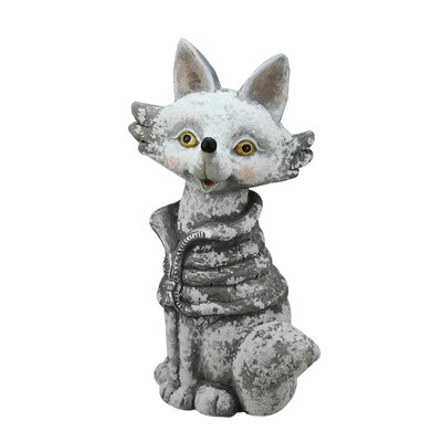 Snow Dusted Fox Christmas Table Top Decoration