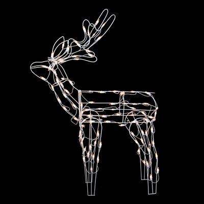 Standing Reindeer Lighted Christmas Yard Art Decoration