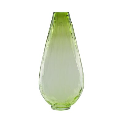 Teardrop Shaped Ombr� Textured Hand Blown Glass Vase 32013898