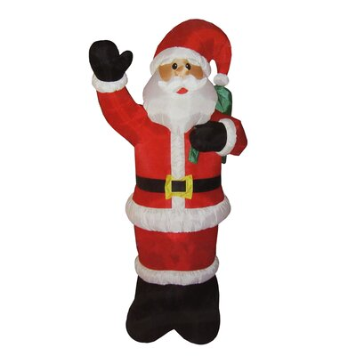 Animated Inflatable Lighted Standing Santa Claus Christmas Yard Art Decoration 31729909
