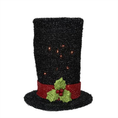 Lighted Tinsel Snowman Top Hat Christmas Tree Topper 31576420