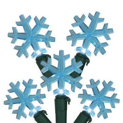 LED Snowflake Christmas Light Color: Blue