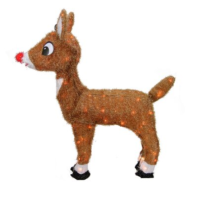 Rudolph the Red-Nosed Reindeer Pre-Lit Christmas Yard Art Decoration