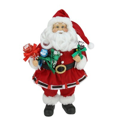 Santa Claus Holding Tootsie Pops Christmas Tabletop Decoration