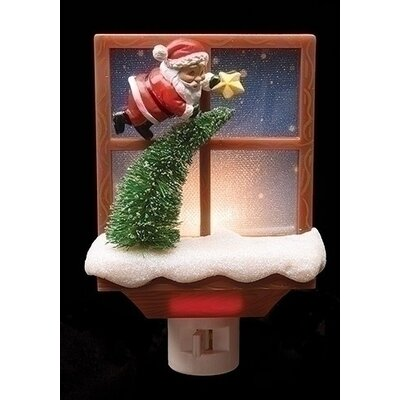 Santa Claus with Tree Decorative Christmas Night Light