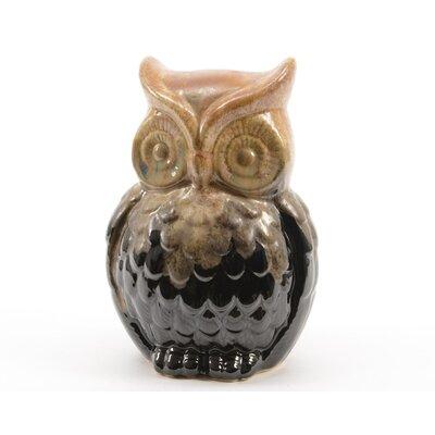 Luxury Lodge Porcelain Owl Decorative Christmas Table Top Decoration