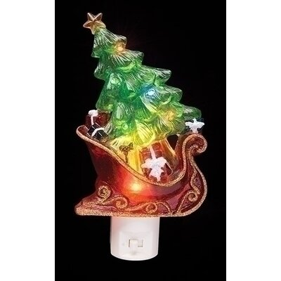 Sleight with Christmas Tree and Presents Decorative Christmas LED Night Light