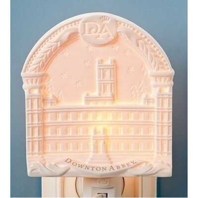 Arched Downton Abbey Highclere Castle Bisque Porcelain Decorative Night Light