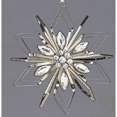 Vintage Snowflake with Gemstones Christmas Ornament Color: Clear