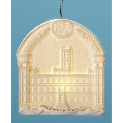 Arched Downton Abbey Highclere Castle Porcelain Decorative Christmas Ornament 31752235