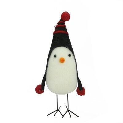 Felt Bird with Winter Hat Decorative Christmas Ornament