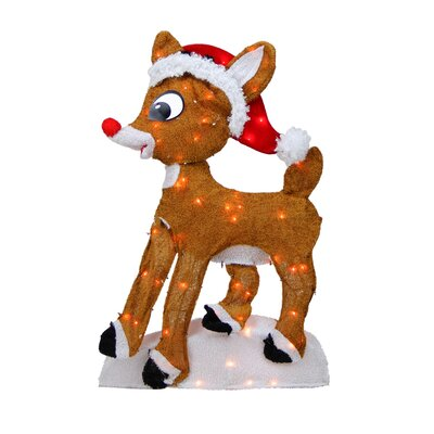 Rudolph the Red-Nosed Reindeer Pre-Lit 2-D Christmas Yard Art Decoration