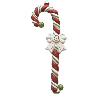 Merry and Bright Large Glittered Shatterproof Candy Cane Christmas Ornament