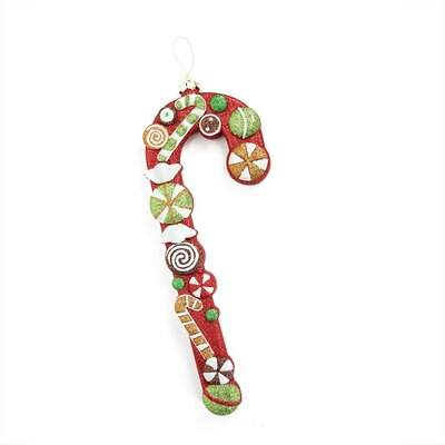Merry and Bright Glittered Shatterproof Candy Cane Christmas Ornament