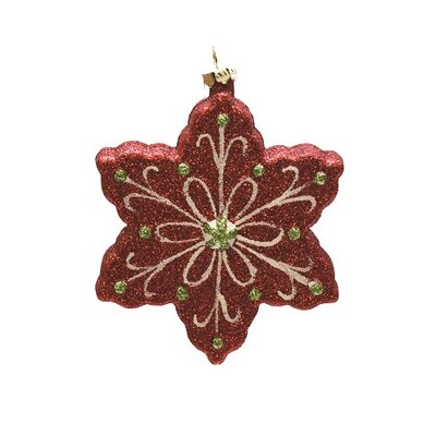 Merry and Bright Glitter Shatterproof Snowflake Christmas Ornament 32256700