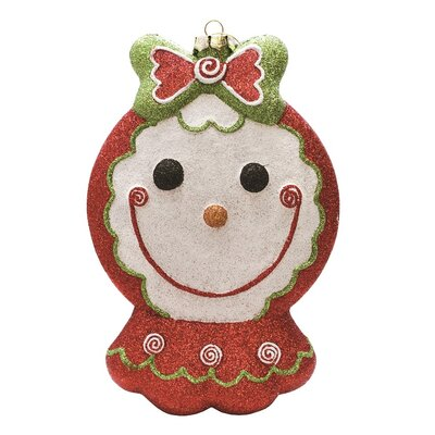 Merry and Bright Glittered Shatterproof Gingerbread Girl Christmas Ornament