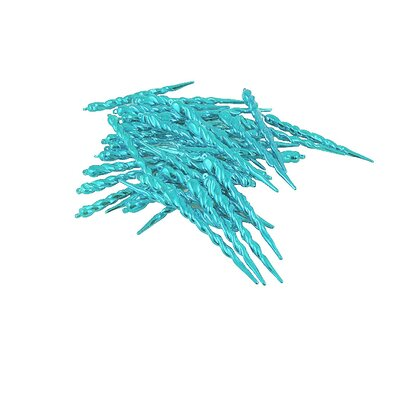 Club Shatterproof Icicle Christmas Ornament Color: Mermaid Blue