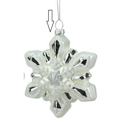 Glittered Snowflake Glass Christmas Ornament 31752981