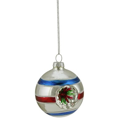 Glittered Witches Eye Glass Ball Ornament Color: Silver 31751880