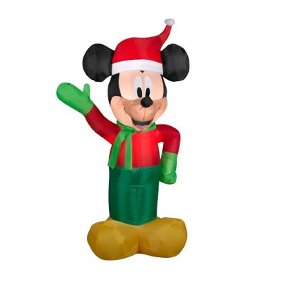 Inflatable Disney LED Lighted Winter Mickey Mouse Christmas Yard Art Decoration