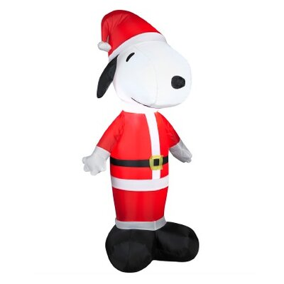 Inflatable Peanuts LED Lighted Snoopy Santa Claus Christmas Yard Art Decoration