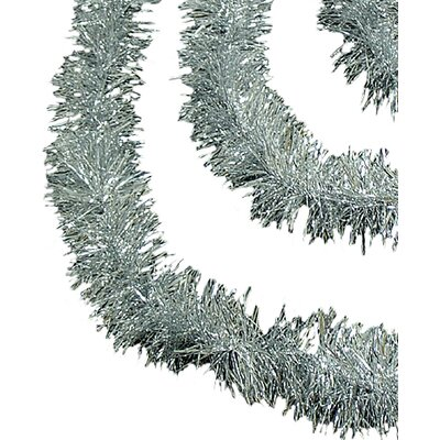 Soft and Sassy Christmas Tinsel Garland with Unlit Color: Silver