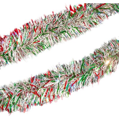 Holographic Christmas Tinsel Garland with Unlit