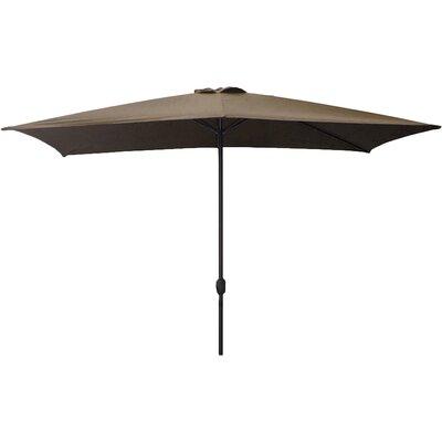 6.5 x 10 Rectangular Market Umbrella Color: Dark Beige