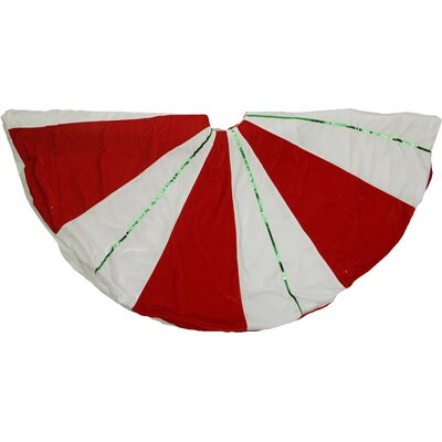 Peppermint Twist Sequined Stripes Christmas Tree Skirt