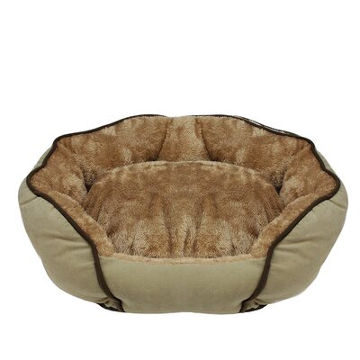 Faux Fur Self Heating Plush Sleeper Lounge Bolster Size: Small (19