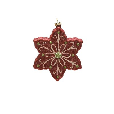 Merry and Bright Glitter Shatterproof Snowflake Christmas Ornament THDA4181 42467610