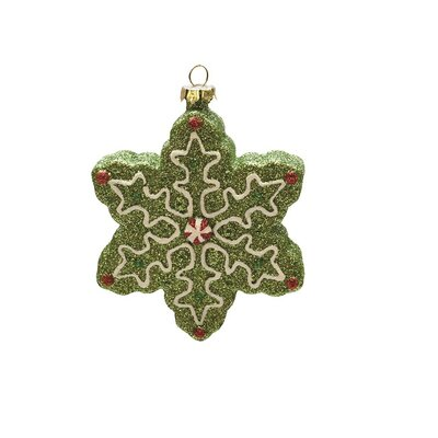 Merry and Bright Xmas Glitter Shatterproof Snowflake Christmas Ornament