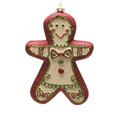 Merry and Bright Glittered Shatterproof Gingerbread Boy Christmas Ornament