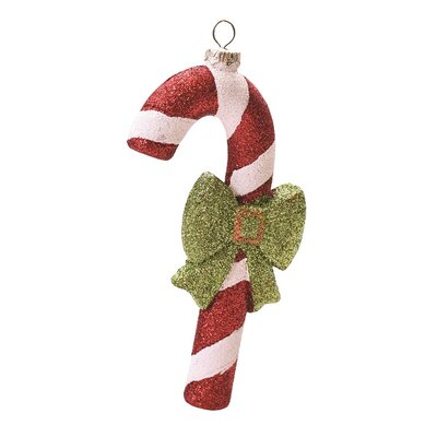 Merry and Bright Glitter Shatterproof Candy Cane Christmas Ornament