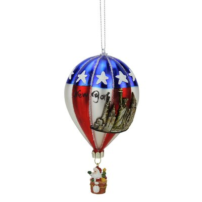 "New York"" Glass Hot Air Balloon Christmas Ornament 31752989"