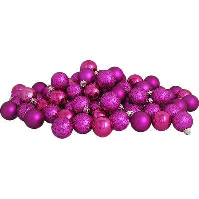 Shatterproof Ball Christmas Ornament Color: Light Magenta / Pink