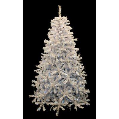 7.5' White Cedar Pine Artificial Christmas Tree with Blue Light